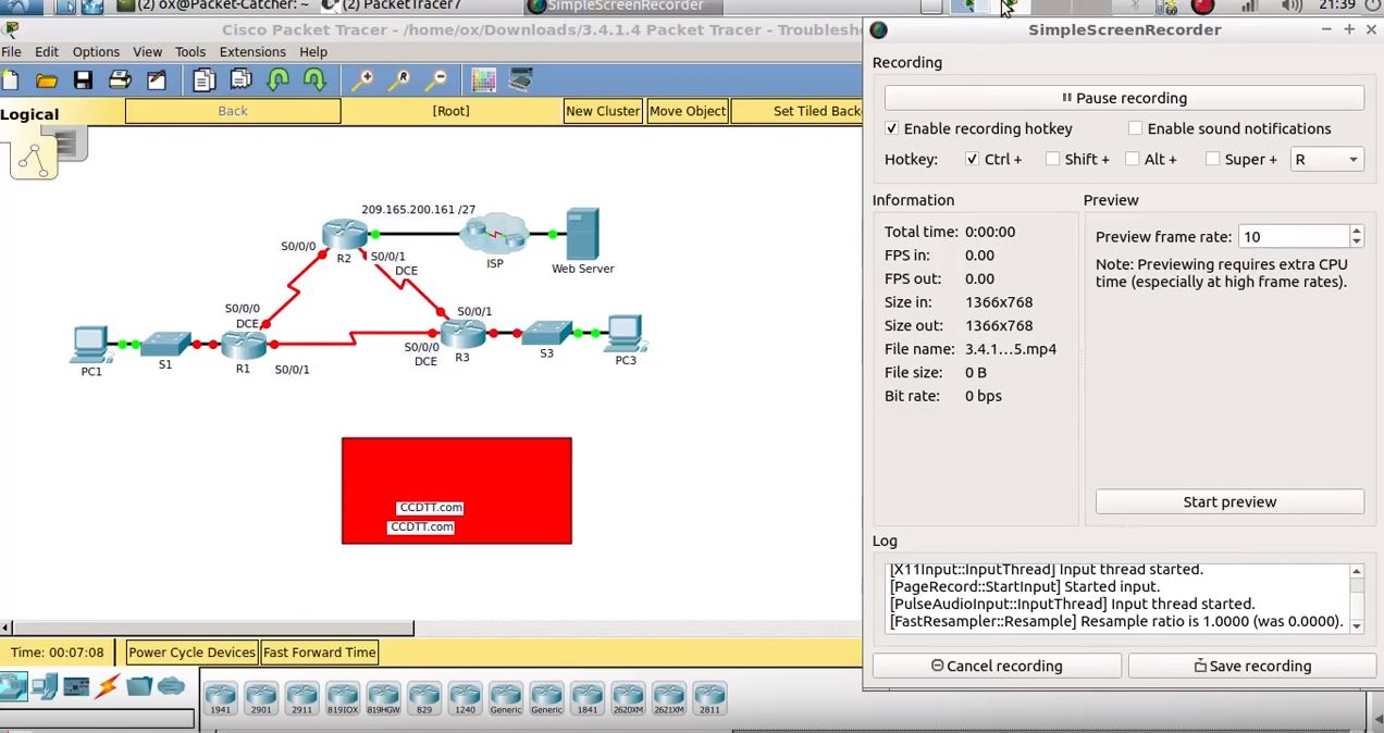 3.4.1.4 Packet Tracer – Troubleshooting PPP with Authentication.pka
