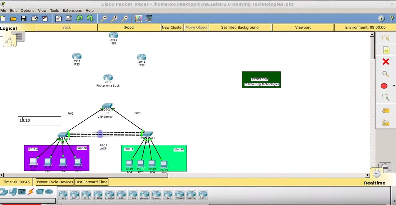 2.0 Routing Technologies – CCNA Packet Tracer Lab
