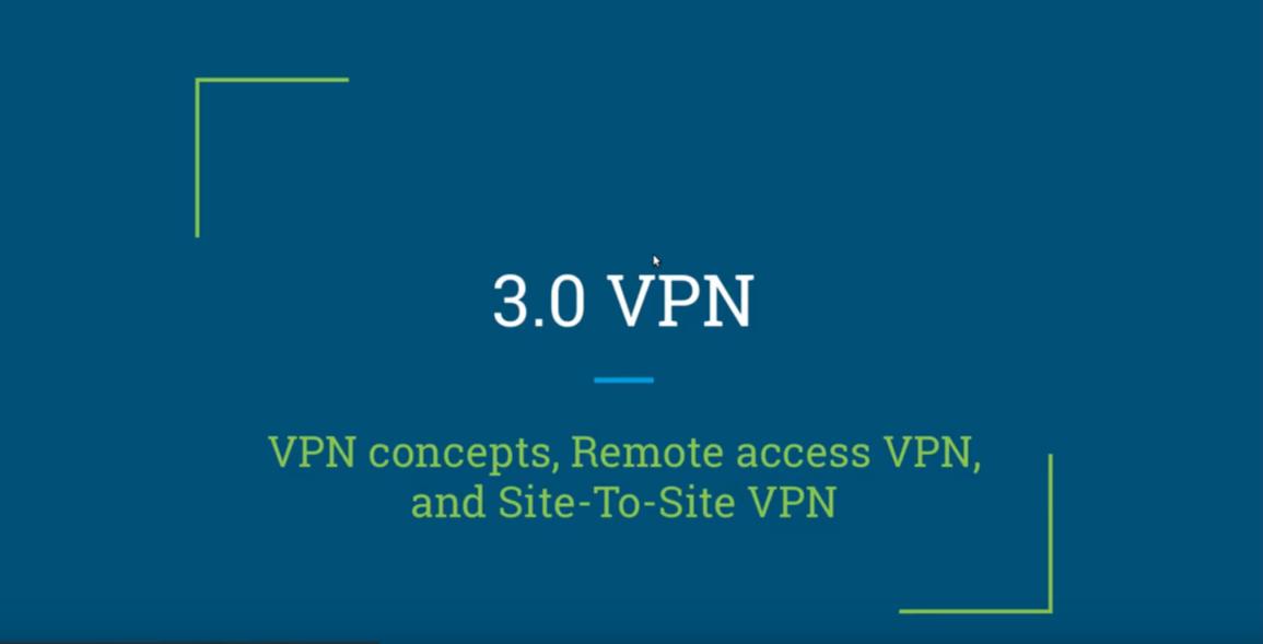 CCNA Security IINS exam (210-260)   3.1 VPN concepts IKE, ESP, and AH