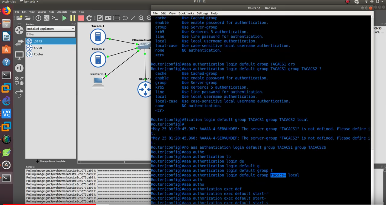 CCNA Security (210-260)   Configure Multiple Tacacs+ Servers in GNS3