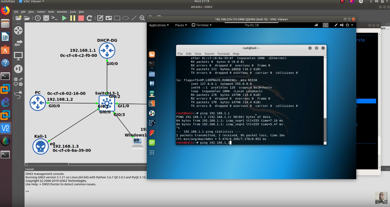 Kali Linux   STP L2 Attack and Protecting Against Root Bridge Attack