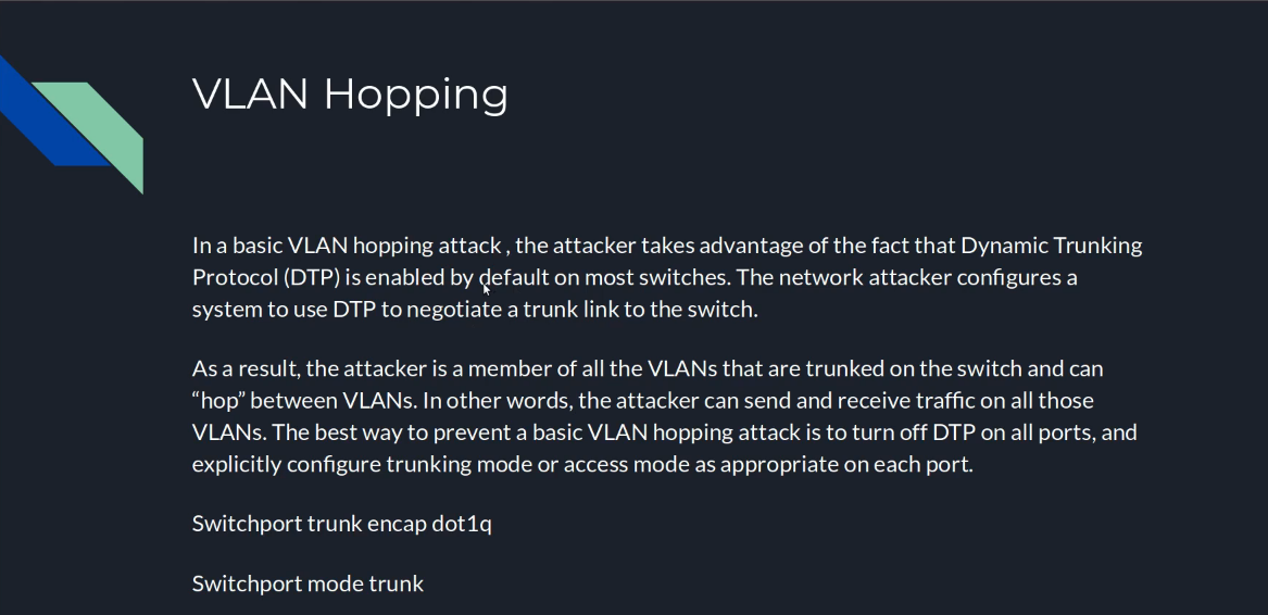 Vlan Hopping, Double Tagging, and STP Attacks