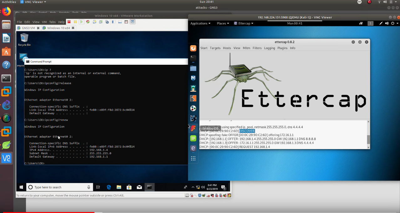 Easy Kali Linux DHCP Spoofing Attack + Mitigating Attack