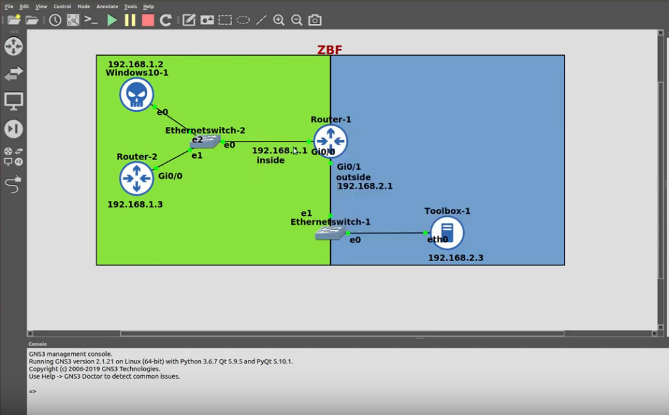 5.4 Implement zone-based firewall on Cisco IOS Router