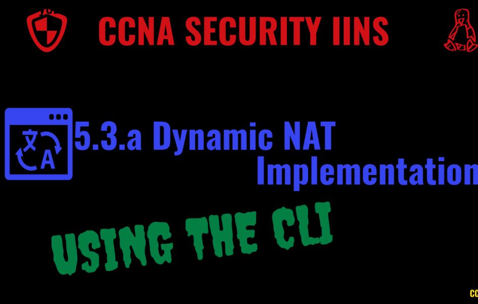 Implement Dynamic NAT on Cisco ASA using the CLI