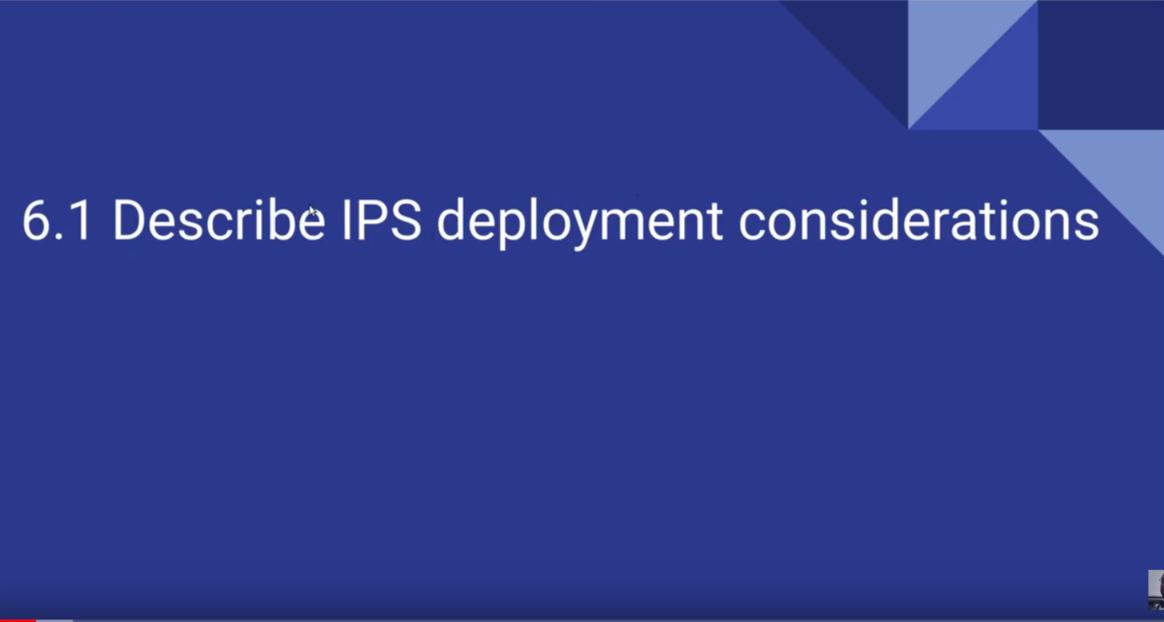 6.1.a Network-based IPS vs. host-based IPS