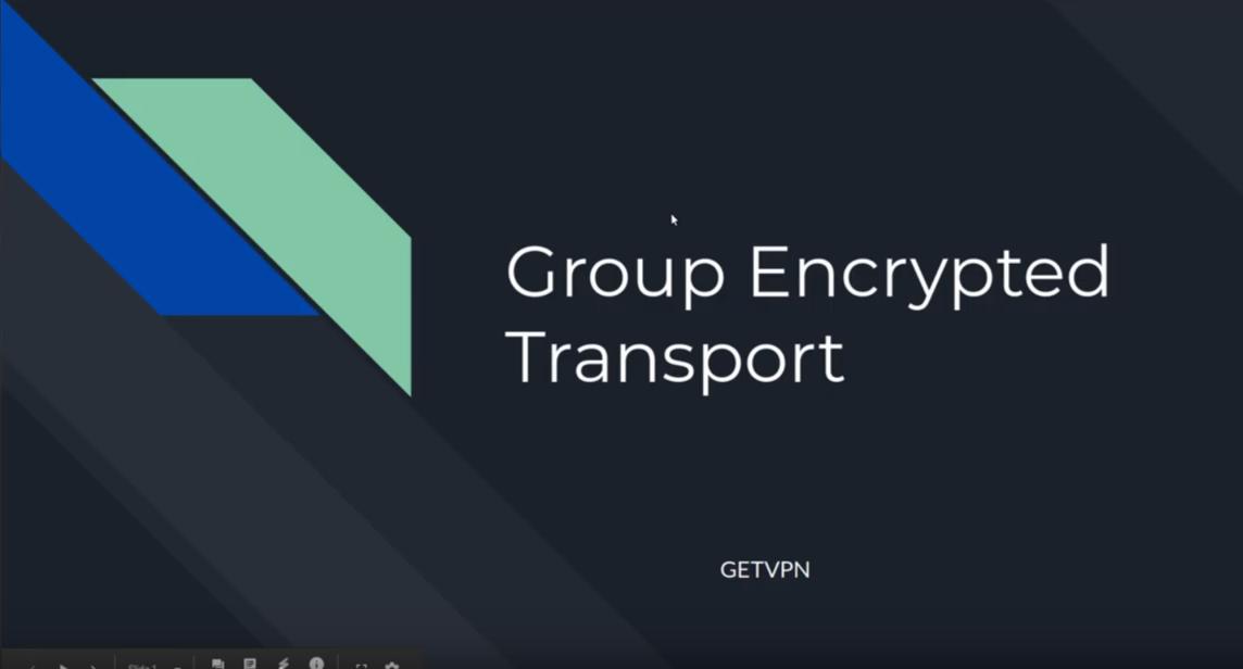 1.1.a Describe GETVPN CCNP Security SIMOS