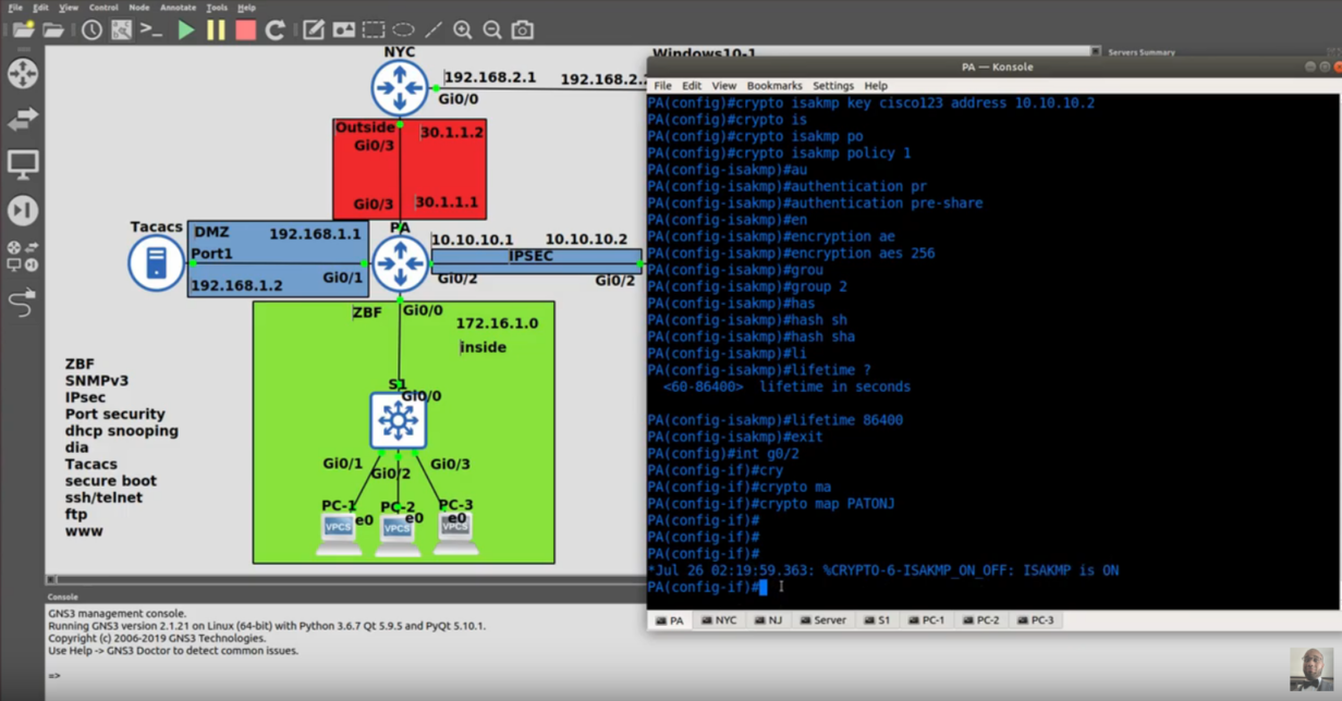 Megalab | DHCP, ZBF, Site to Site VPN, SNMPv3, ARP, DHCP Snooping