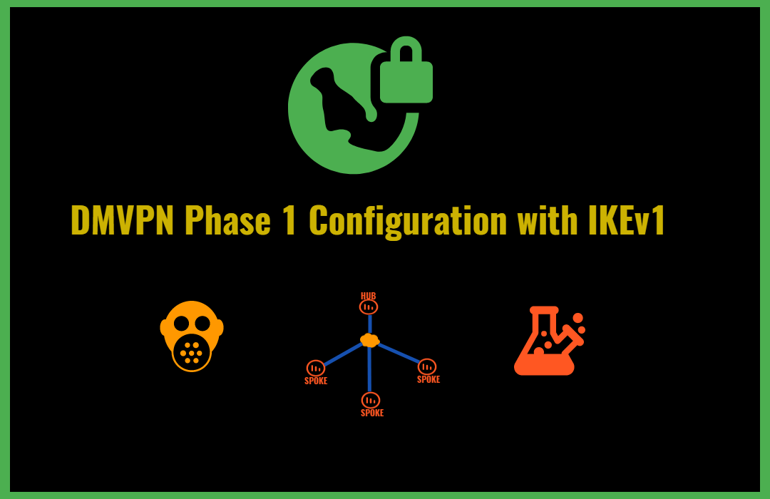 Easy DMVPN Phase 1 with IKEv1 and IPsec Network Configuration