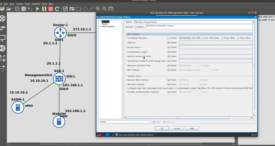 ASA Clientless SSL VPN Deep Dive Using the ASDM
